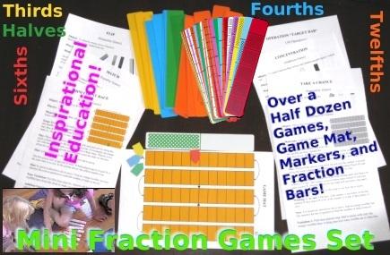 Mini Fraction Games Set